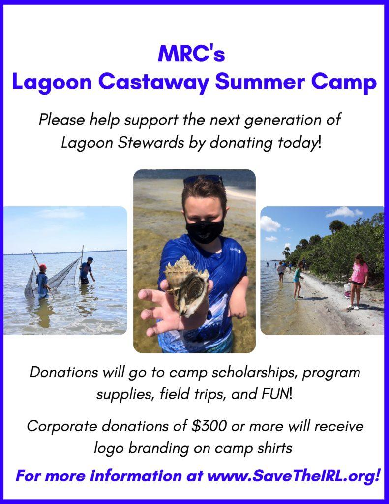 Lagoon Castaway Summer Camp flyer