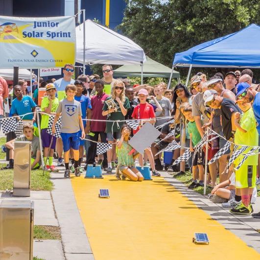 Junior solar sprint race